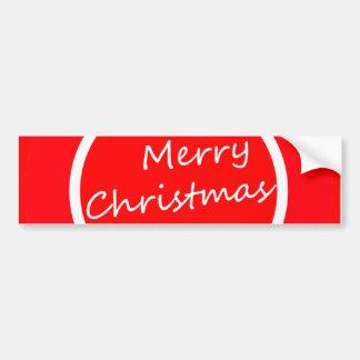 Bumper Sticker (Merry Christmas Special Design)