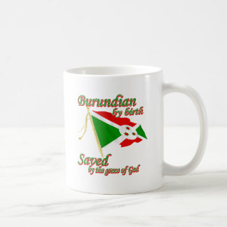 Burundian by birth saved by the grace of God Basic White Mug