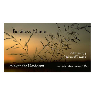 Bus. Card - Grass Silhouette Pack Of Standard Business Cards