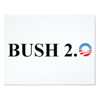 BUSH 2.0 11 CM X 14 CM INVITATION CARD