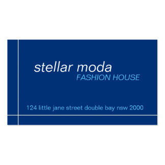 business cards > stellar moda [navy+blue]