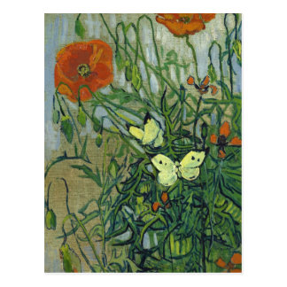 Butterflies and Poppies by Vincent van Gogh Postcard