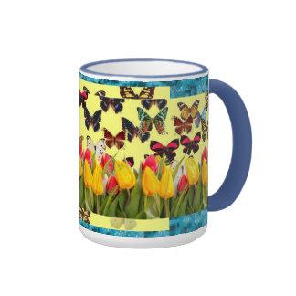 Butterflies Ringer Mug