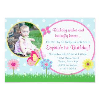 Butterfly Birthday Invitation 5x7 Photo Card