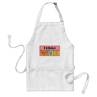 Butterfly Birthday Wishes Standard Apron