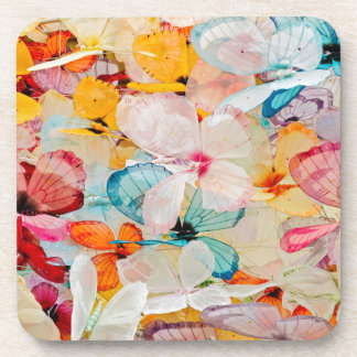 Butterfly exhibit beverage coasters