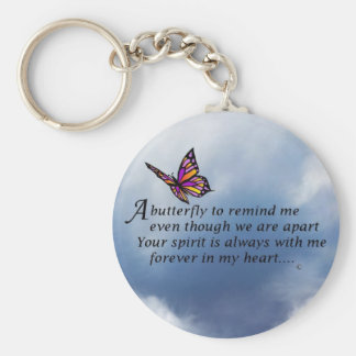 Butterfly  Memorial Poem Basic Round Button Key Ring