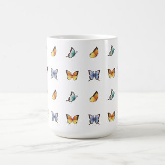 Butterfly Pattern: Vector Art Basic White Mug