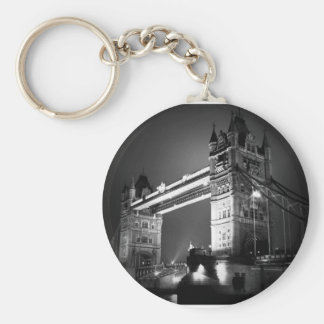 BW Black & White London Tower Bridge Basic Round Button Key Ring