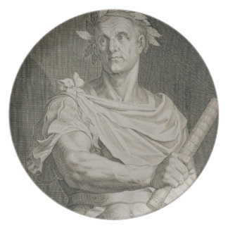 C. Julius Caesar (100-44 BC) Emperor of Rome engra Party Plate