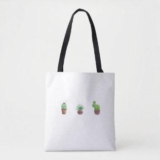 Cactus Design All-Over-Print Tote Bag