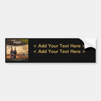 Cafe Doberman Bumper Sticker