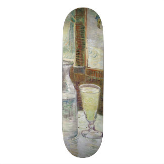 Cafe Table with Absinthe by Vincent Van Gogh Skate Board Decks