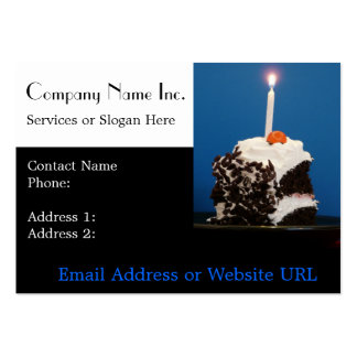 Cake and Candle for Bakery or Caterer Pack Of Chubby Business Cards