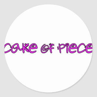 cake of piece round sticker