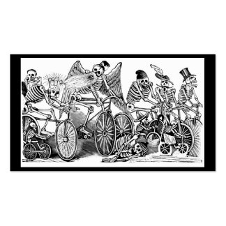 Calavera Bicyclists circa late 1800's Mexico Pack Of Standard Business Cards