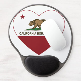 California Born and Raised Heart Gel Mouse Pad