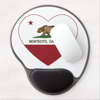 california flag montecito heart gel mouse pad