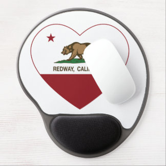 california flag redway heart gel mouse pad