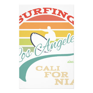 California surf illustration, t-shirt graphics stationery design
