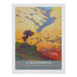 California Vintage Travel Poster
