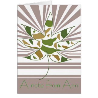 Camo Leaf Note Note Card