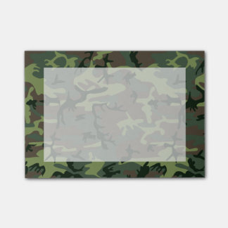 Camouflage Camo Green Brown Pattern Post-it® Notes