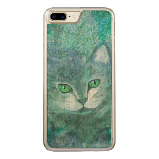 Camouflage Cat in Green Garden Carved iPhone 7 Plus Case