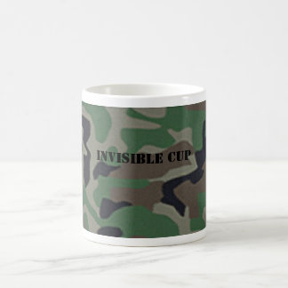 Camouflage Invisible Coffee Cup Basic White Mug