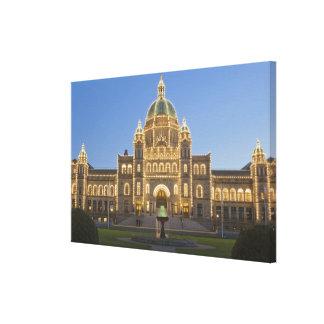 Canada, BC, Victoria, BC Legislature Building at Stretched Canvas Prints