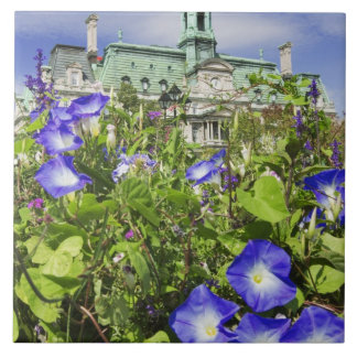Canada, Quebec, Montreal. View of City Hall Large Square Tile