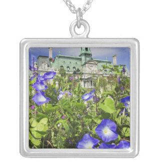Canada, Quebec, Montreal. View of City Hall Square Pendant Necklace