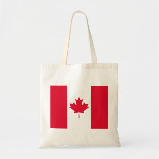 Canadian Flag Maple Leaf Red White Canada Budget Tote Bag