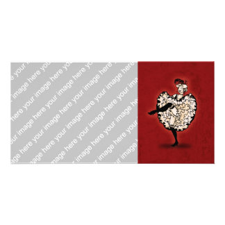 Cancan Dancer Personalised Photo Card