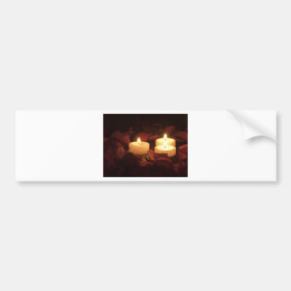 Candles in Roses Bumper Sticker