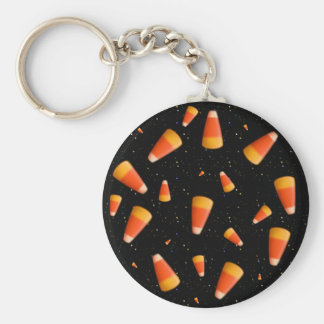 Candy Corn Space Invaders Basic Round Button Key Ring