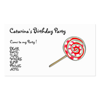 Candy  Party- Customized Pack Of Standard Business Cards