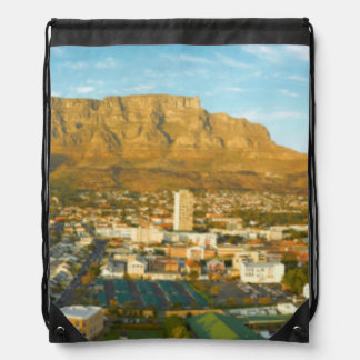 Cape Town Cityscape With Table Mountain Backpack