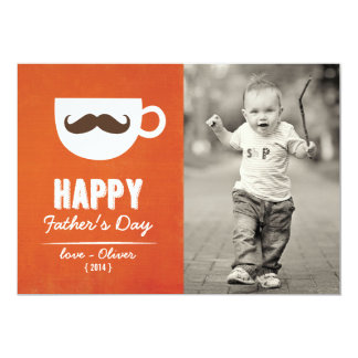Cappuccino Mustache | Happy Father's Day Card 13 Cm X 18 Cm Invitation Card