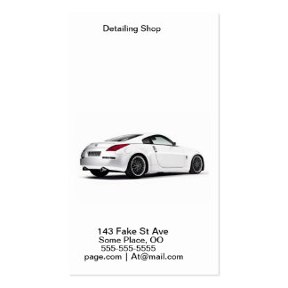 Car Detailing Pack Of Standard Business Cards