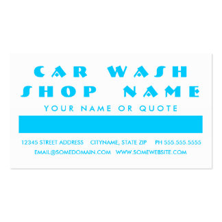 CAR WASH customer appreciation (mod squares) Pack Of Standard Business Cards