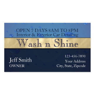 Car Wash Pack Of Standard Business Cards