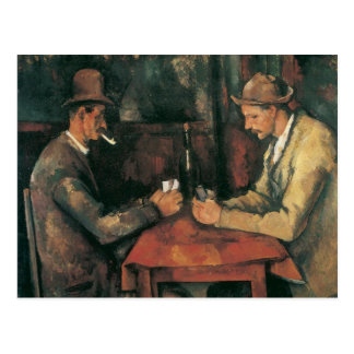 Card Players by Paul Cezanne, Vintage Fine Art Postcard