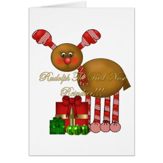 Card-Rudolph the Red Nose Reindeer Greeting Card