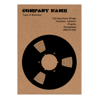 Cardboard Recording Tape Spool Pack Of Chubby Business Cards