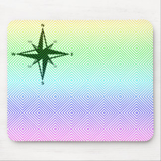 cardinal points, spectral romb mouse pad