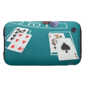 Cards and chips on betting table tough iPhone 3 covers