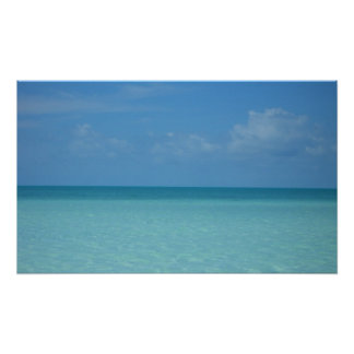 Caribbean Horizon Tropical Turquoise Blue Poster