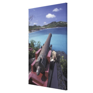 CARIBBEAN, St. Barts, Connon aiming into Bay of Canvas Prints