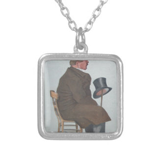 Caricature of Percy William Doyle C.B. by James Square Pendant Necklace